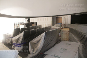 One hundred new reclining seats have been installed during renovation of the planetarium in the Scobee Education Center. Photo by Riley Stephens