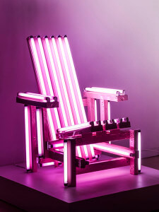"""Pink Electric Chair"" by Ivan Navarro Courtesy"