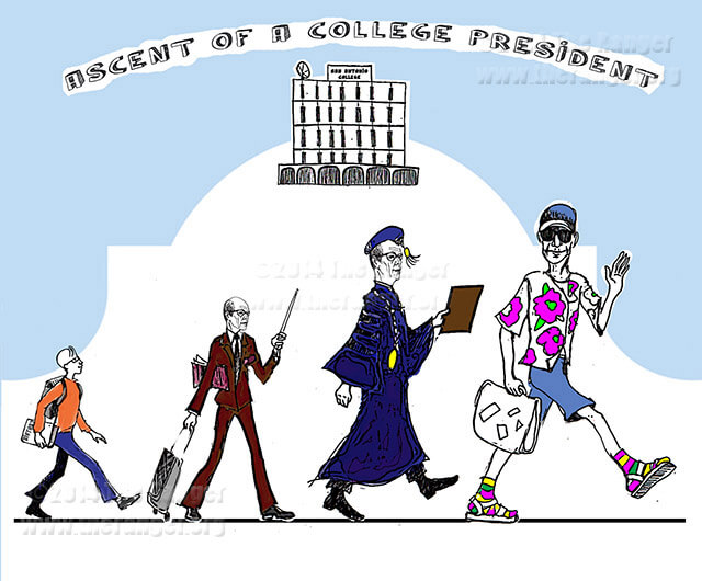 Cartoon Ascent Of A College President