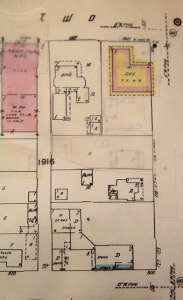 The property plans for Koehler Cultural Center and the L.B. Clegg House 1952-69 from the Texana catalog in the San Antonio Public Library.