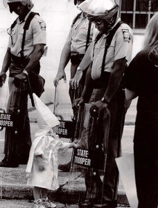 Freelance photographer Todd Robertson photographed a Ku Klux Klan rally Sept. 5, 1992, in Gainsville, Georgia.  Courtesy Southern Poverty Law Center