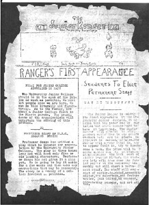 First issue of The Ranger on March 25, 1926