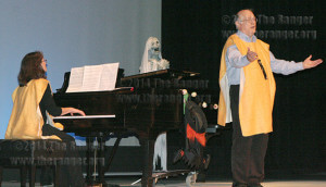 Music faculty Cindy Sanchez and Peter Kline perform at the annual Halloween concert Oct. 29, 2009.  File