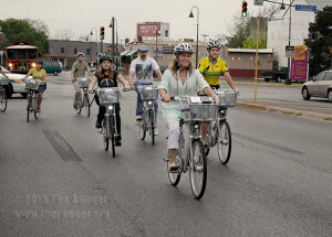 B-Cycle riders head toward at B-cycle's La Vilita location March 2011.  File