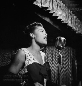 Jazz singer Billie Holiday performing in New York in 1947.  Courtesy