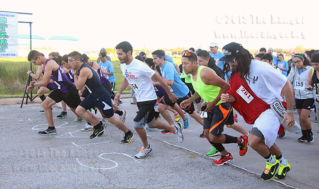 "Cordero Maldonado, known as Spurs Jesus, was in the front line of the second Alamo Colleges Wellness 5K Run/Walk March 28 at Palo Alto. Read ""More than 200 turn out for second wellness run at PAC"" on www.theranger.org.  Photo by Vanessa Frausto"