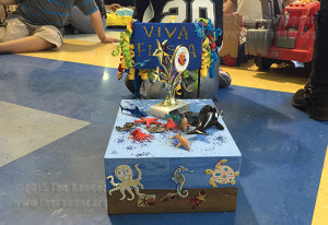 Margil Elementary students' ocean-themed float.