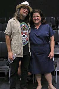 "Professor David Rodriguez, San Antonio College counselor and lead singer of ""David Rodriguez and the Barrio Blasters"", and his wife Melissa Marlowe, head of Drama Department at NorthWest Vista, collaberated on the play. Photo by L. Hillary Melton"