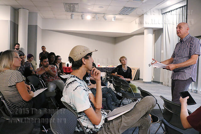 Emmy award-winning photographer and filmmaker Harvey Wang showed his latest documentary about the historical changes from darkroom film to digital photography. A Q&A session and book signing followed. Photo by Melissa Luna
