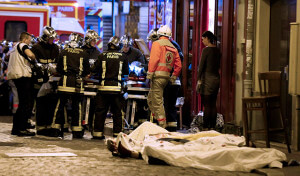 Several dozen people were killed in a series of unprecedented attacks around Paris on Friday. French President Francois Hollande closed the country's borders and declared a state of emergency.  AccuNet/AP