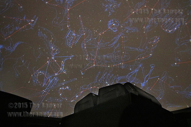 Scobee Planetarium depicts a star field on the ceiling Nov. 11 in the theater. The last show before the planetarium installs a new projector, the Digistar 5, will be Nov. 20. Coordinator Bob Kelley says they plan to reopen with the new 4000 X 4000 resolution projector in mid-January. Photo by Danielle Kelly