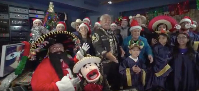 "Anthony Medrano, bottom left, a former student and local mariachi violinist, released ""San Antonio Christmas,"" a holiday video celebrating the city's traditions.  Courtesy"