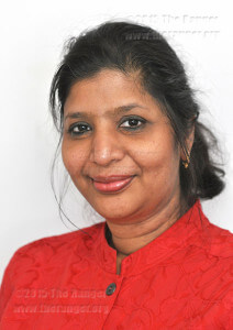 Coordinator of college technologies Usha Venkat poses Wednesday, March 3, in the College Technologies Building, 218 Ashby. File photo