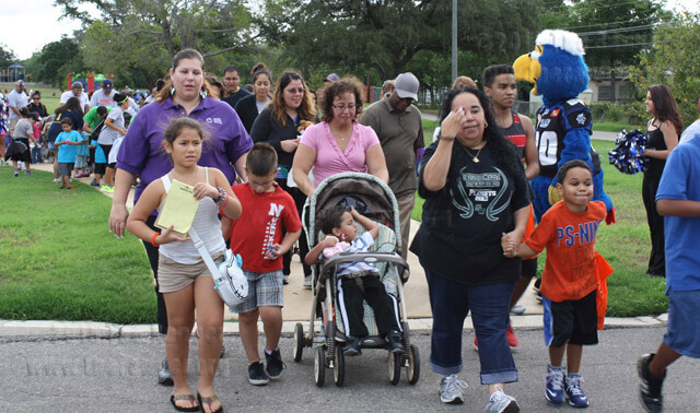 More than 500 participants walked 1 mile to raise awareness on ways to decrease infant mortality and support healthy pregnancies during the Baby Buggy Walk Saturday.  Celeste Christy