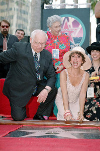 Moreno enjoys the unveiling of her star on the Hollywood Walk of Fame July 20, 1995, on Hollywood Boulevard.  AccuNet/AP