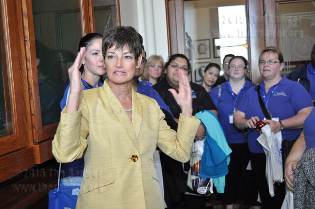 "Republican State Senator Donna Campbell said Feb. 5 to Alamo Colleges Student Leadership Institute members at the Capitol, ""The blessing of perseverance is success.""  Ingrid Wilgen"