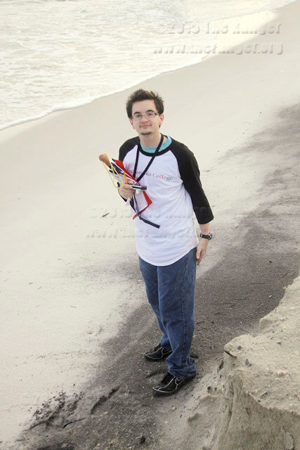Riley Stephens reports on the aftermath of the BP oil spill Aug. 18, 2010, on Dauphin Island, Ala.  File photo