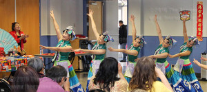 Dancers from the Chinese Culture Performance Association of San Antonio perform a dance. The group will be performing again this year from 11 a.m.-noon Monday in the Fiesta Room.  File