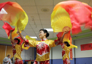 A local Chinese folk dance group performs in January 2014 during a Chinese Festival in the Fiesta Room of Loftin in honor of the Chinese New Year.  File