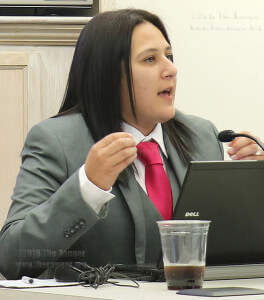 Student trustee Sami Adames at a committee meeting Oct. 20. File