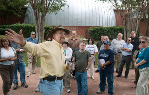 David Mrizek, vice president of college services, gives a campus tour on Employee Development Day in September 2009.  File
