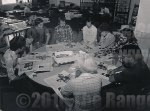 The Ranger newsroom when cut and paste meant scissors or a utility knife and hot wax and smoking was allowed. File