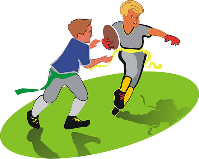 Image result for clipart flag football