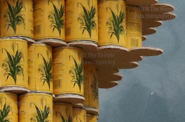 SAC's chapter of American Institute of Architecture students built a sculpture of the Greek god Atlas's hand holding a bowl of chili in room 254 of Chance September 7, 2016 for entry in the Annual Canstruction event taking place September 11, 2016 at North Star Mall. The stucture will be made up of approximately 1975 white kidney beans, black beans and corn cans donated from Trader Joes, currently there are approximately 1700 cans being used.  Photosby Brandon A. Edwards