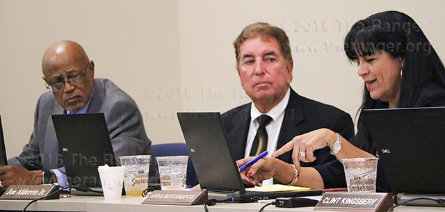 District 3 trustee Anna Bustamante is the only member of the board of trustees who did not support the tuition increase passed Oct. 18 at the Alamo Colleges Central Texas Technology Center. Bustamante said she wished the board of trustees had received more input from part-time students before coming to a decision as they were the main focus.  Photo by Brandon A. Edwards