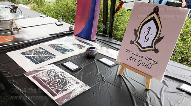 This colleges Art Guild sets up a tent at Jerrys Art Fest Oct. 3, 2016 in front of Jerrys Artarama. This colleges Art Guild sold $200 in artwork, doubling their sales from the previous event in March.  Photo by Miranda A. Holden