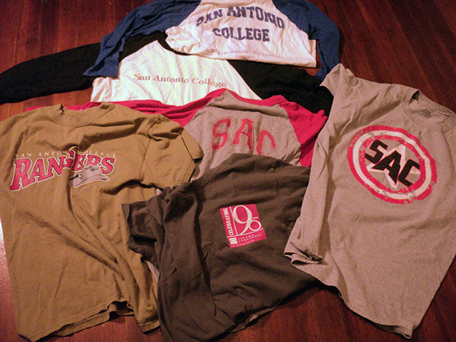 T-shirts Alexandra Nelipa Collected over her time here at this college. Courtesy